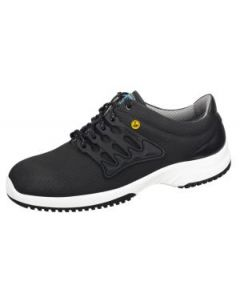ESD BLACK FUNCTIONAL LEATHER HONEYCOMB PATTERN TRAINER (36761)