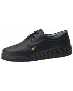 ESD BLACK LEATHER OCCUPATIONAL LACE UP WORK SHOES (32610)