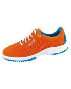 ESD ORANGE KNITTED TEXTILE UPPERS WORK TRAINERS SRC SLIP BASER (36774)