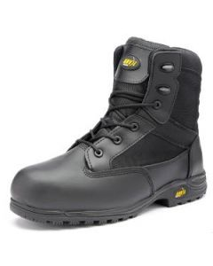 MAINE BLACK LEATHER SLIP RESISTANT SOLE ANTI-STATIC BOOTS