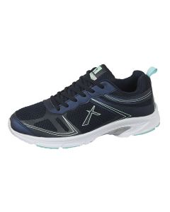 Navy Blue Mesh/PU Superlight 6 Eye Lace Trainer Mesh/Text (T424NC)