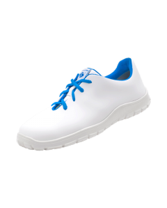 LADIES WHITE & BLUE MICROFIBRE ESD SAFETY LACE UP SHOES