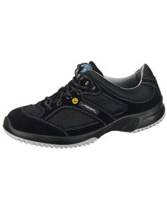 ESD BLACK VELOURS BREATHABLE TEXTILE INLAYS TRAINERS 31721