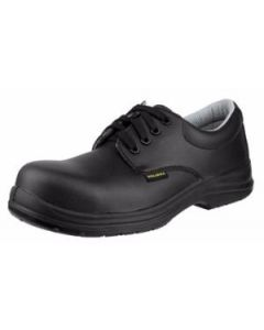 BLACK MICROTECH SAFETY LACE UP NURSING SHOES SRC SLIP SAFE