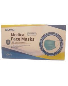 TYPE IIR MEDICAL GRADE NON WOVEN FACE MASKS 3 PLY BOX 50