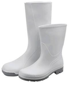 WHITE HALF WELLINGTONS BOOTS WHITE PVC WASHABLE TO 50C (WE400-HALF)