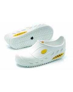 WHITE WASHABLE SAFETY NURSING CLOGS SLIP RESISTANT, ANTISTATIC