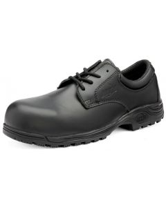 TULSA BLACK LEATHER SAFETY SHOES SLIP RESISTANT SOLE ANTI-STATIC